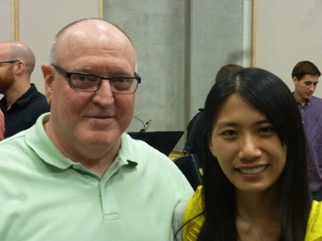 With composer fellow Celia Chan at the 2015 nief-norf Summer Festival in Knoxville, Tennessee