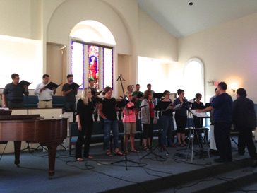 Recording Jubilate Deo with the Composer's Choir in Middletown, Connecticut August 2013